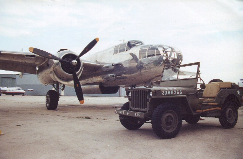 B-25 & 1942 Willys MB Jeep